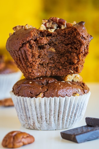 """{Date-Sweetened} Mini Carrot Muffins for Baby (with yogurt """"frosting"""")"""