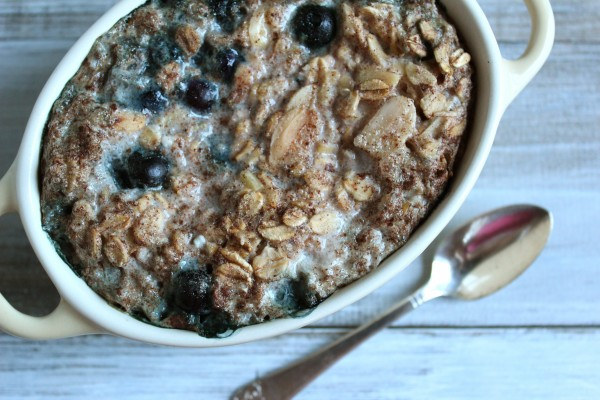 Winter Blueberry Almond Baked Oatmeal (for one)