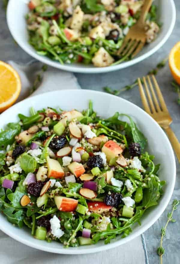 Cherry, Arugula, & Quinoa Salad with Goat Cheese and Almonds