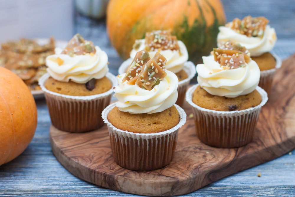 Carrot Cupcakes with Maple Cream Cheese Frosting